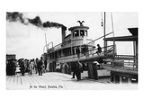 Palatka  Florida - Departing from a Ship at the Wharf
