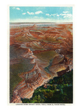 Grand Canyon Nat'l Park  Arizona - Down Bright Angel Trail from El Tovar Hotel
