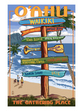 Waikiki  Oahu  Hawaii - Sign Destinations
