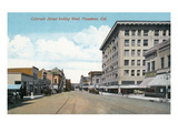 Pasadena  California - Western View Down Colorado Street