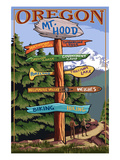Mt Hood  Oregon - Spring Destination Sign
