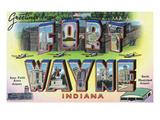 Fort Wayne  Indiana - Large Letter Scenes