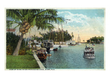 Miami  Florida - Miami River from Budge Dock