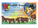 The Love Brand Storiette  Couple Kissing and Cattle