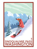 Snowboarder Scene - Snoqualmie Pass  Washington