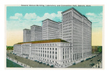 Detroit  Michigan - General Motors Bldg  Lab  and Convention Hall Exterior