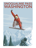 Snowboarder Jumping - Snoqualmie Pass  Washington