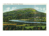 Lookout Mountain  Tennessee - Panoramic View of the Mountain from Chattanooga