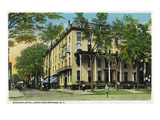 Saratoga Springs  New York - Worden Hotel View