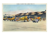 Langley Field  Virginia - View of Planes Getting Serviced