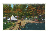 Allegany State Park  New York - View of the Girl Scouts' Camp