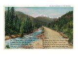 Colorado - Scenic Road in the Rocky Mountains  Poem