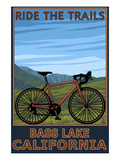 Bass Lake  California - Bicycle Scene