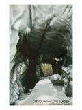 Estes Park  Colorado - Interior Crevice View in Hallett's Glacier