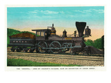 "Chattanooga  Tennessee - View of the ""General"" Train Used by Andrew's Raiders  at Union Depot"