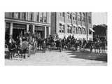Elgin  Illinois - View of the City's Firefighters on Carriages