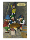 Lookout Mountain  Tennessee - Fairyland Caverns  Interior View of Gnomes Playing Poker