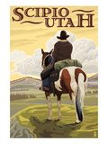 Scipio  Utah - Cowboy and Valley
