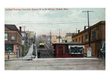 Duluth  Minnesota - View of the Superior St Incline Railway