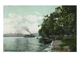 Chautauqua Lake  New York - Long Point View of Steamer