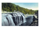 Letchworth State Park  New York - View of Upper Falls
