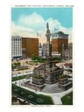 Cleveland  Ohio - Public Square Soldiers and Sailors Monument