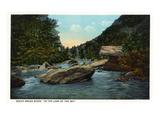 Blue Ridge Mountains  North Carolina - Rocky Broad River Scene