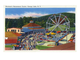 Caroga Lake  New York - Sherman's Amusement Center View