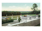 Saratoga Springs  New York - View from the Yaddo Rose Garden Terrace