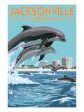 Jacksonville Beach  Florida - Jumping Dolphins