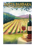 Santa Barbara  California - Vineyard Scene