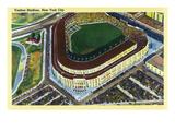 New York  New York - Aerial View of Yankee Stadium