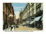 Kansas City  Missouri - Western View Down Petticoat Lane from Grand Avenue