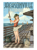 Jacksonville  Florida - Fishing Pinup Girl