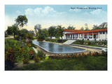 Kansas City  Missouri - Exterior View of the Bath House and Wading Pool