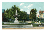 Syracuse  New York - Onondaga Circle Fountain View