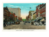 Chattanooga  Tennessee - View of Market Street  Along the Dixie Highway