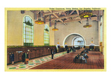 Los Angeles  California - Union Station Ticket Concourse View