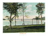 Saratoga Springs  New York - View of Saratoga Lake