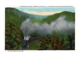 Blue Ridge Mountains  North Carolina - Southern Rail Co Train Scene