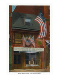 Philadelphia  Pennsylvania - Betsy Ross House with US Flags