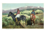 Arizona - Navajo Men on Horseback