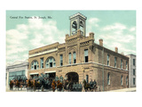 St Joseph  Missouri - Central Fire Station Exterior View