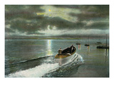 Syracuse  New York - Moonlight Boatride on Onondaga Lake