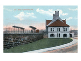 Youngstown  Ohio - Baltimore and Ohio Railway Train Depot View