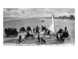 Daytona Beach  Florida - Crowds on Bicycles and in Cars