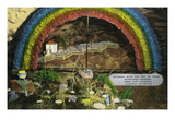 Lookout Mountain  Tennessee - Fairyland Caverns  Interior View of Rainbow with a Pot of Gold