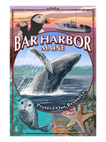Bar Harbor  Maine - Wildlife Montage