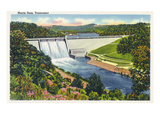 Norris  Tennessee - Springtime View of the Norris Dam