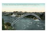 Niagara Falls  New York - Upper Arch Bridge Connecting Canada and USA
